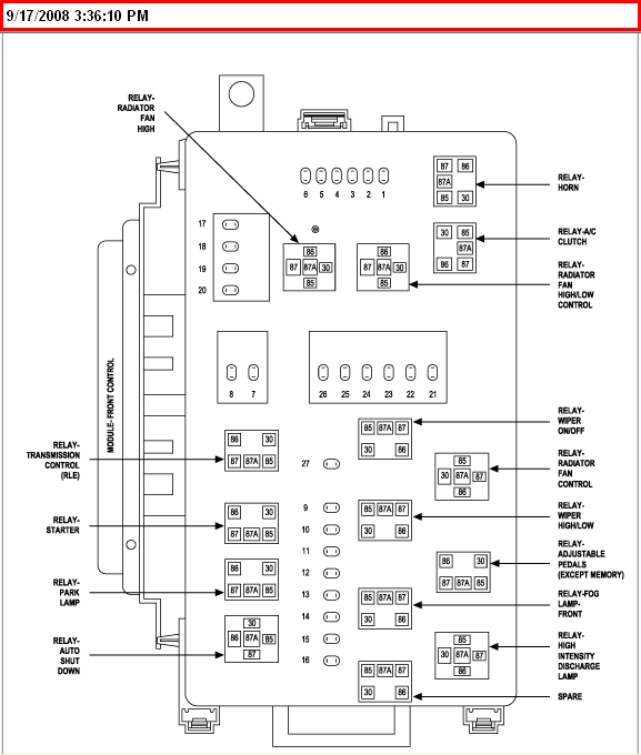 2006 chrysler 300c fuse box diagram