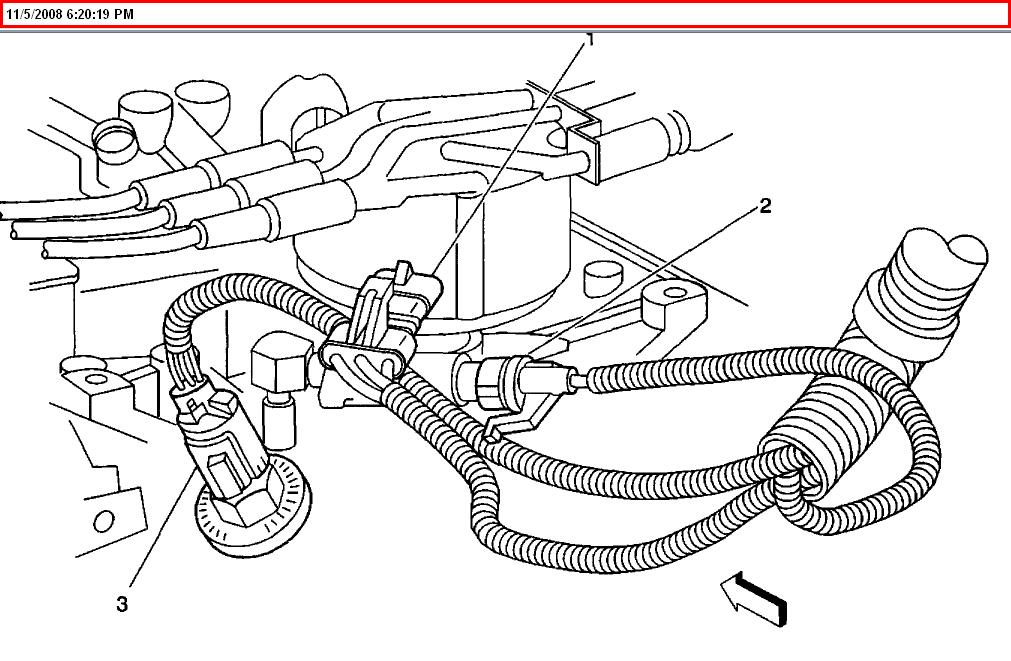 on Engine Camshaft Position Sensor