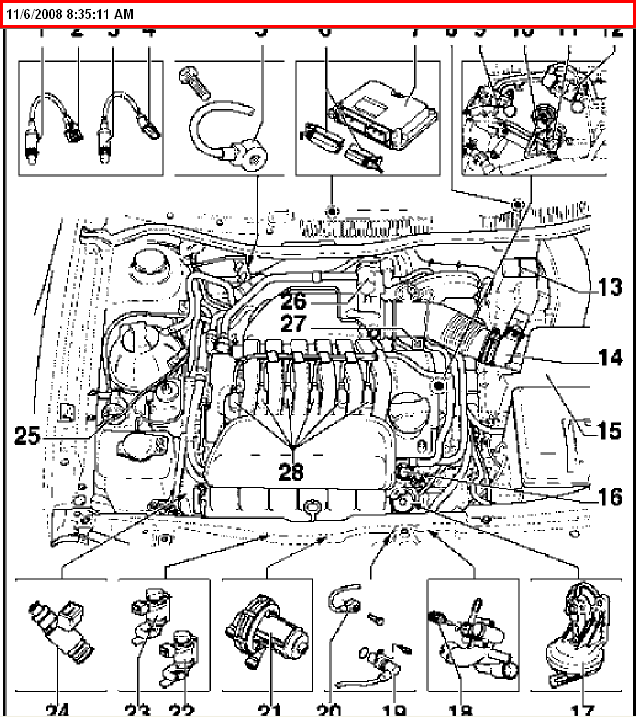 2002 Cadillac North Star Engine Diagram likewise Volkswagen Beetle Cooling System Diagram furthermore 4270 also 4wd Vacuum Hose Location Question 113564 furthermore 3k0rc Changing Water Pump Vw 4motion Transporter Year 2005. on volkswagen coolant temperature sensor location