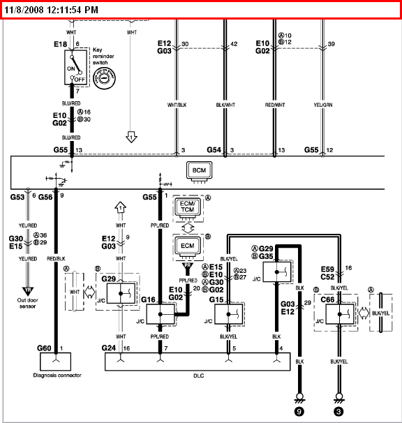 2004 suzuki xl 7 a wiring diagram for the obdii computer graphic