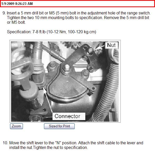 Where Do I Locate The Transmission Range Switch?