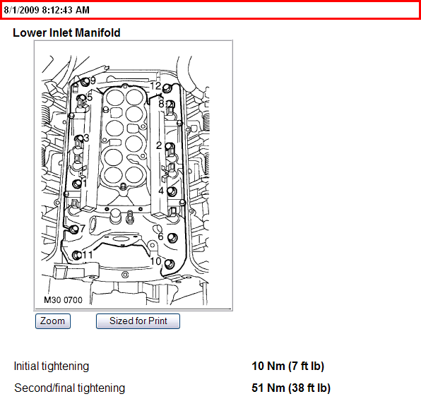 need torque specs for 2003 discovery ii land rover 4 6 l