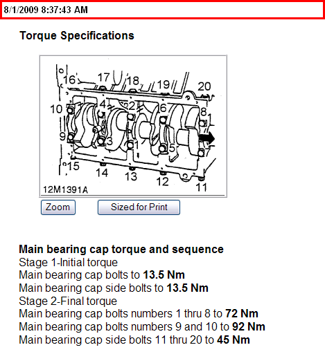Rod Bearing Replacement Torque 2003 Land Rover Discovery