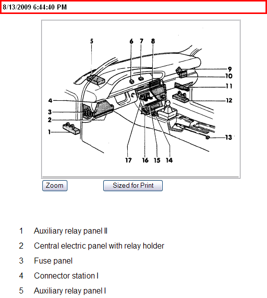 where is the fuel pump relay located on a 93 audi 100 cs
