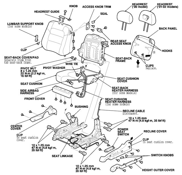 2002 honda accord  the driver u0026 39 s side seat does not fold