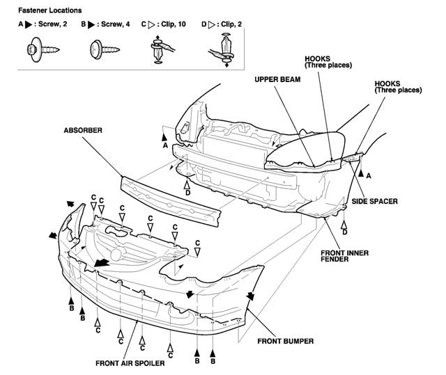service manual  2003 acura nsx headlight assembly removal