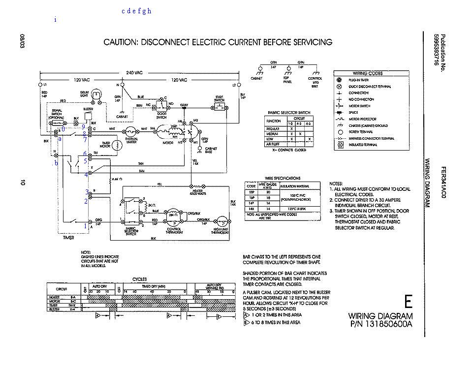 frigidaire dryer wiring diagram solidfonts wiring diagram for frigidaire range the