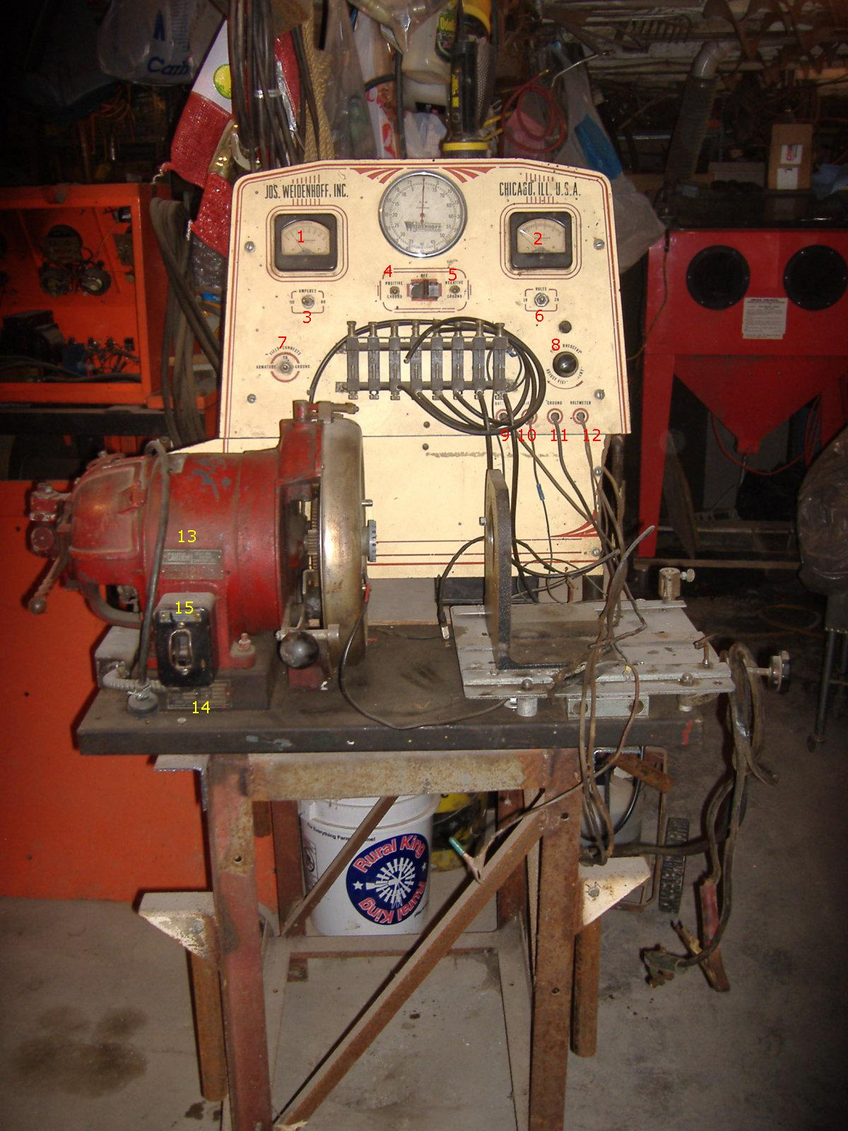 I Have A Very Old Magneto Testing Bench The Name On It Is