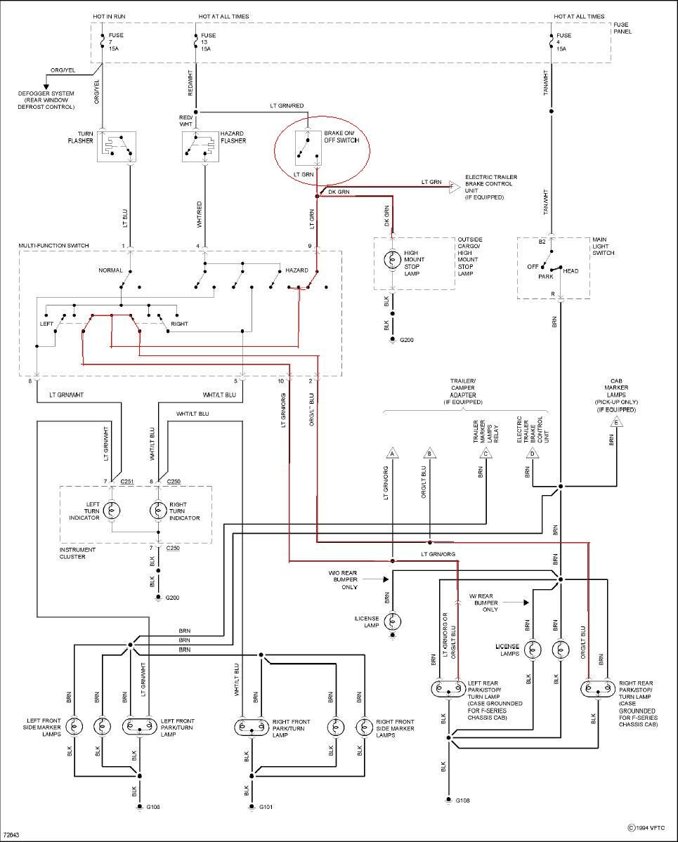 need wiring diagram for 1995 ford f 150 v 8 brake light. Black Bedroom Furniture Sets. Home Design Ideas