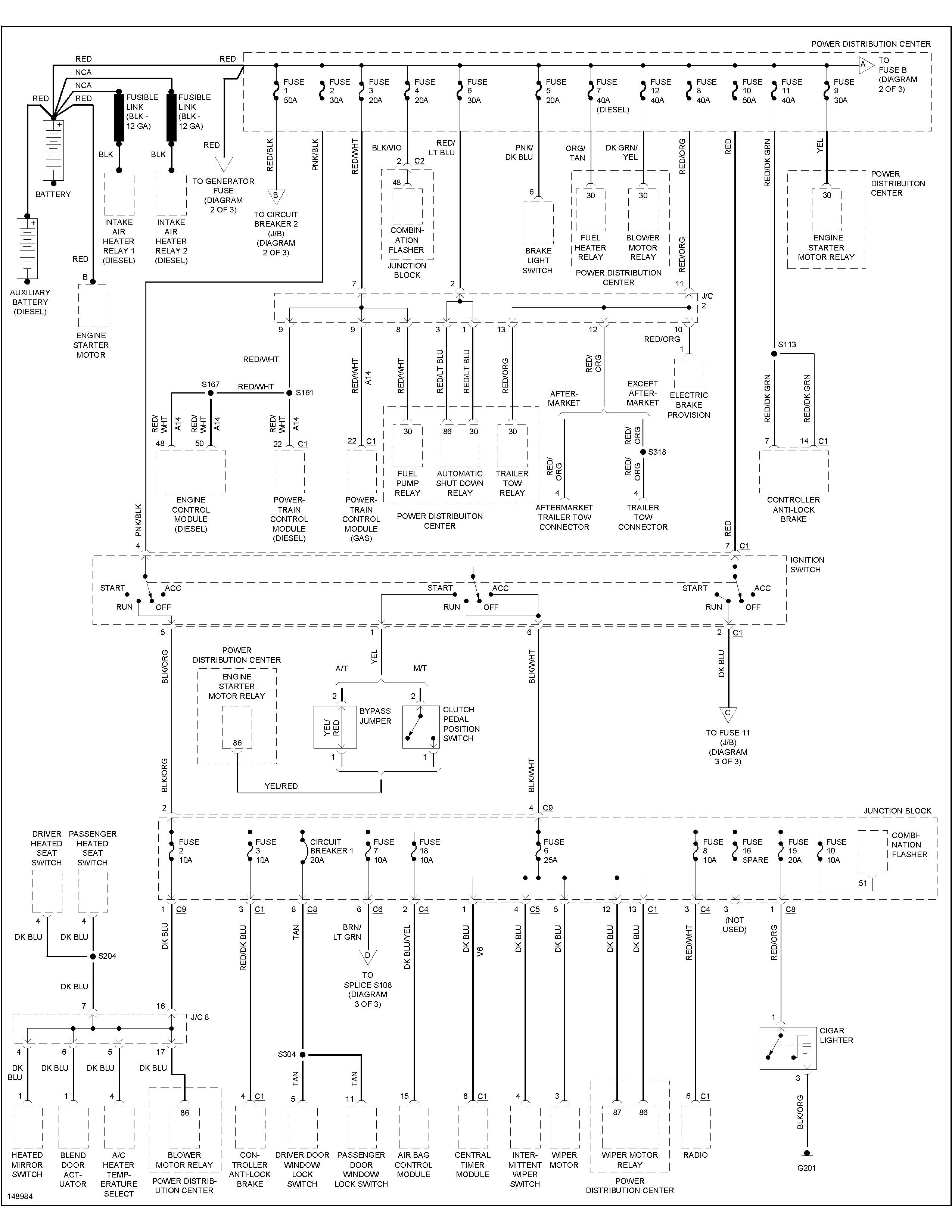 1992 dodge ram cummins 12v into 74 winnie brave  i need a total electrical diagram of the 92 ram