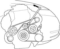2009 honda civic lx serpentine belt diagram