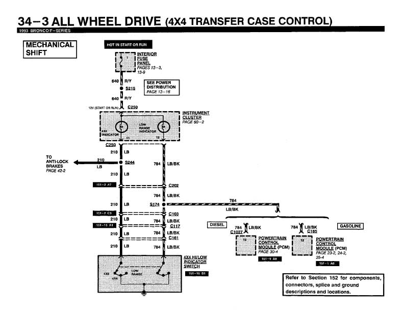 Need Wiring Diagram For 1993 Ford F150 4x4 Select Circuit