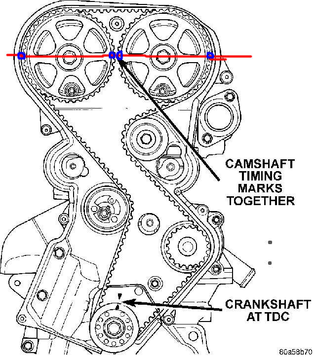 I replaced the timing belt on my 2002 dodge stratus 2.4 ...