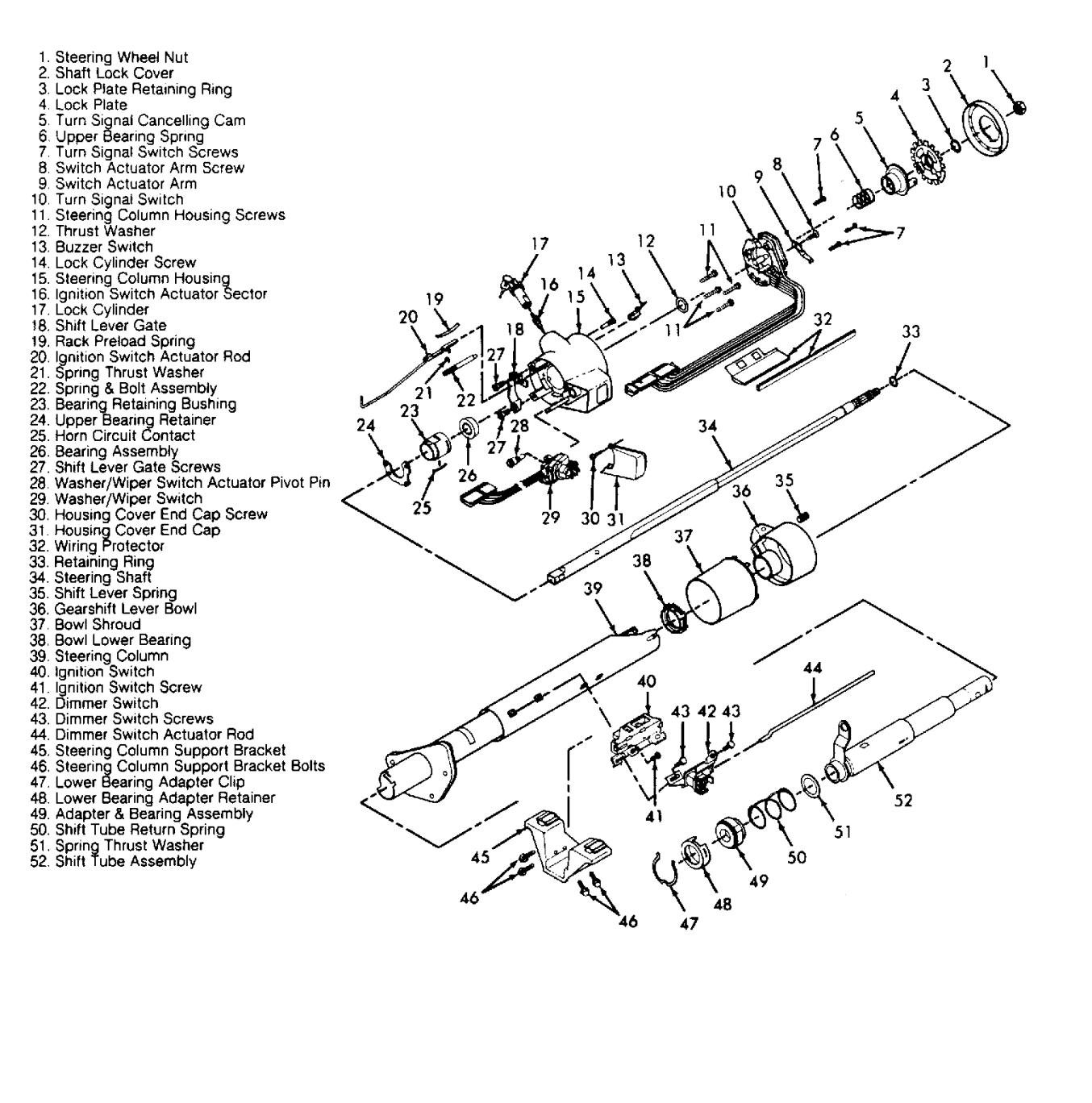 1994 chevy truck steering shaft diagram enthusiast wiring diagrams u2022 rh rasalibre co