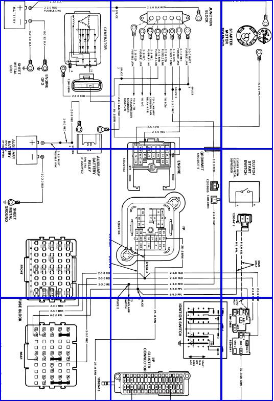 88 chevy starter wiring 88 chevy silverado wiring diagram where can i find the wiring diagram for alternator and ... #4