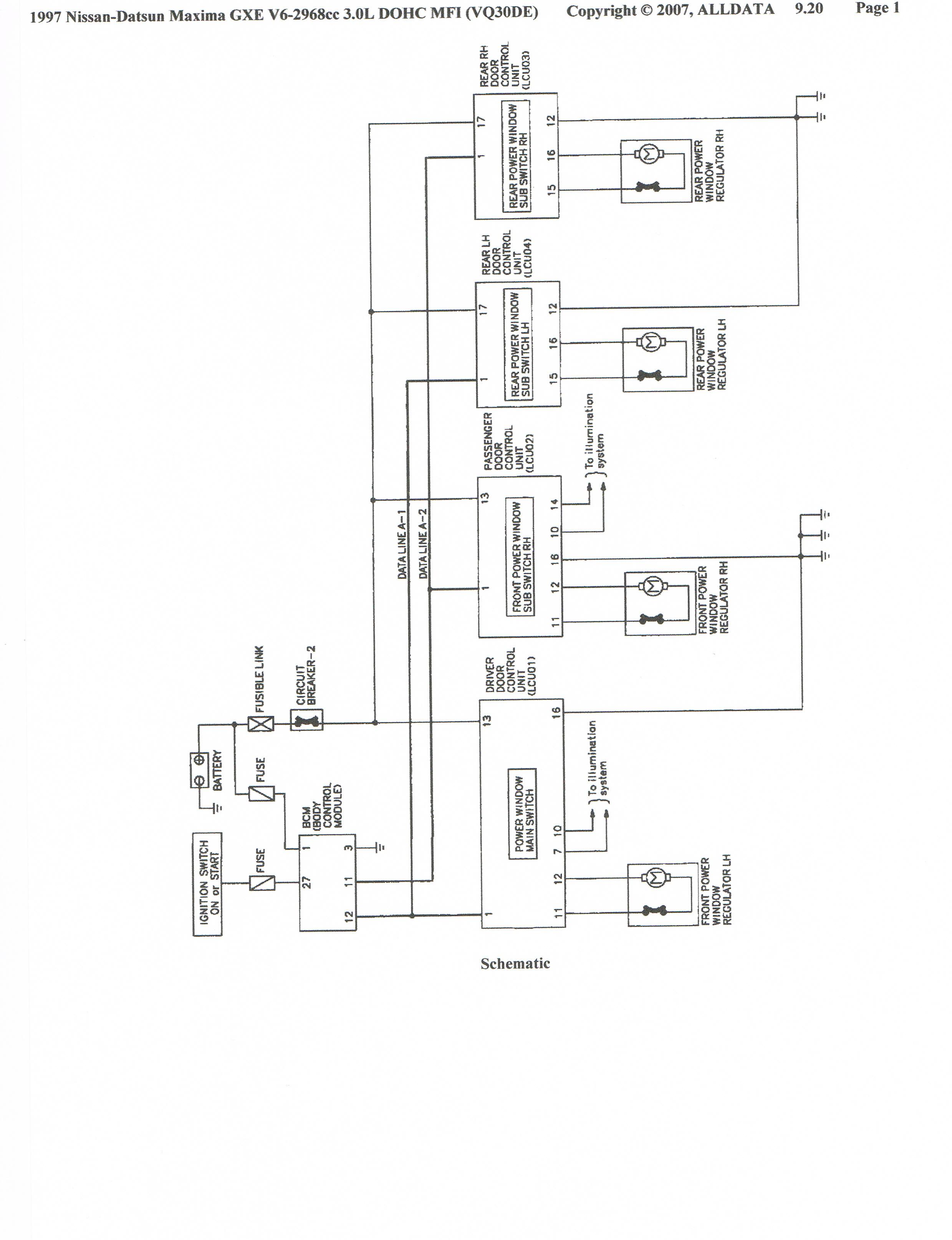 97 maxima power window diagram