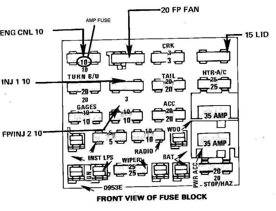 I Need A Diagram For A 1987 Chevy Camero V