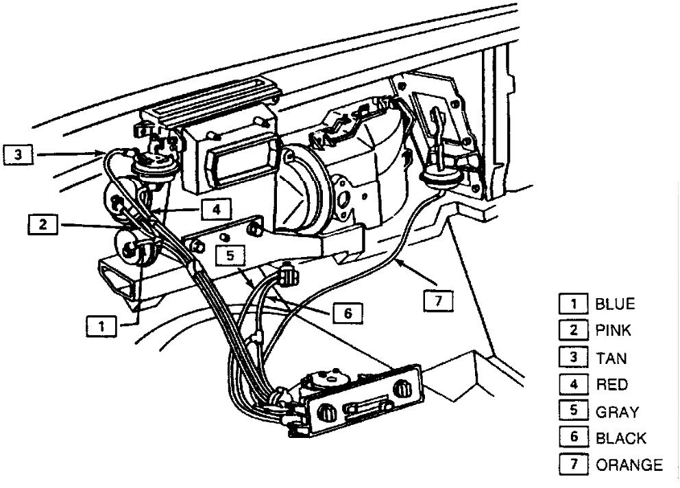 Where Are The Ac Vacuum Lines Located For 86 Corvette