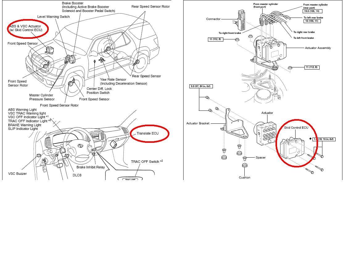 23ef0 Sequoia Skid Control Chip Translate Ecu Chip Failure Malfunction on Ignition Control Module