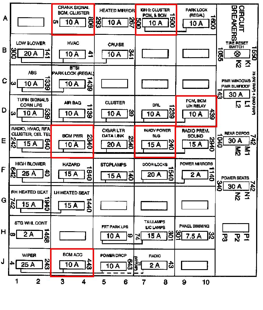 04 Buick Lesabre Fuse Box Wiring Library 02 2000 Regal 25 Diagram Images Diagrams Creativeand Co 2004
