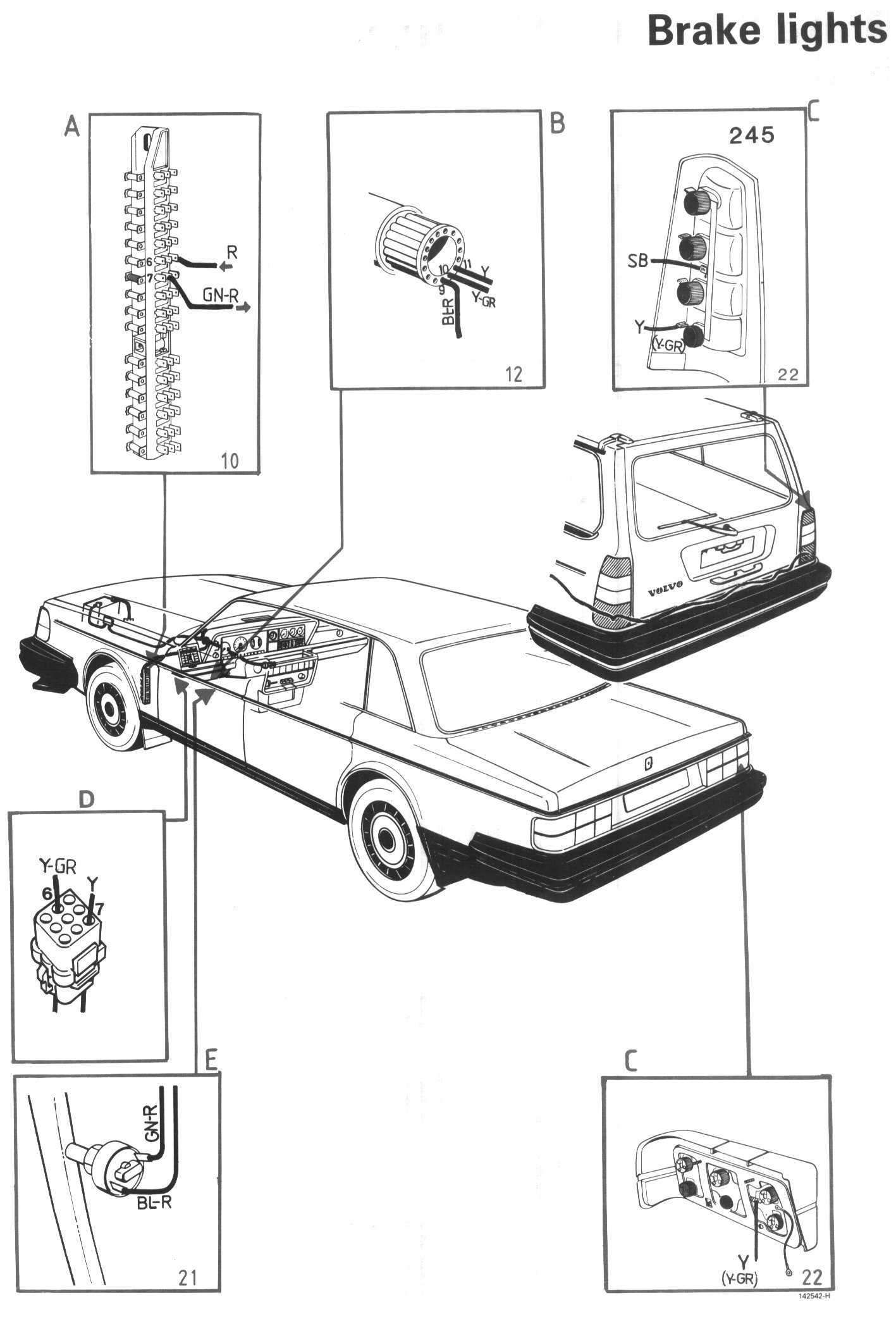 Volvo 240 Wagon Tail Light Wiring Diagram : Volvo tail light wiring new boiler diagram