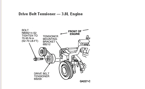 Tension Pulley Ford Windstar : How do i replace the belt tensioner on a ford windstar