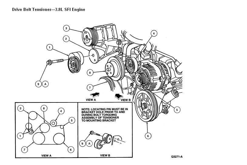 i need a diagram serpentine belt on 96 ford mustang