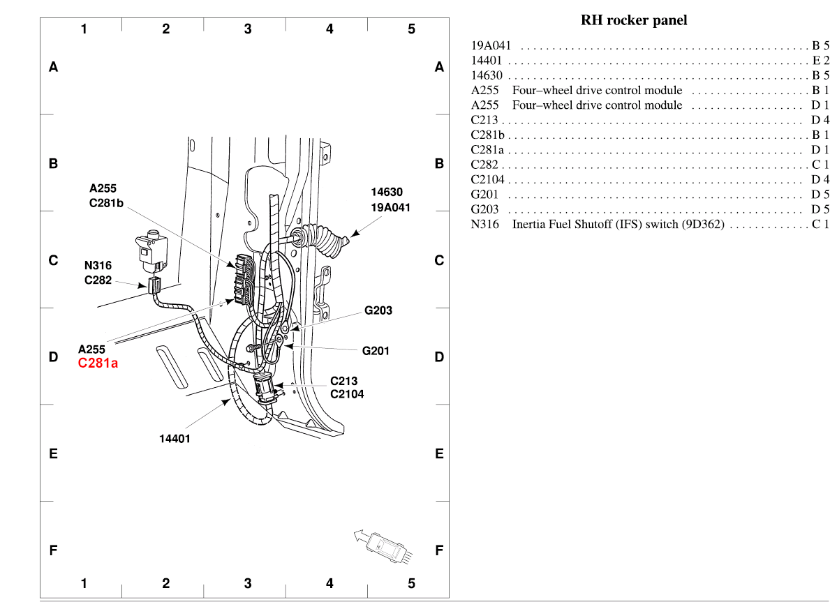 2002 Ford Ranger Fuse Diagram Under Hood Map I Have A 4x4 4 0 Engine Does Not Engage