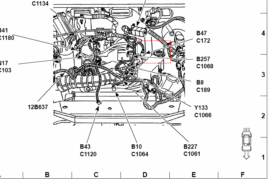 Where Is The Pcv Located On A 2001 Ford Ranger 3 0l V6
