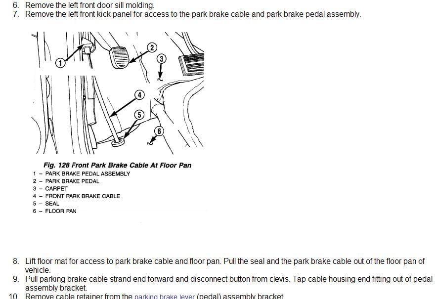 2003 Town  U0026 Country  Parking Brake  The Metal Bead  Brake Pedal