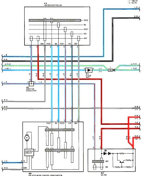 Toyotum Truck Heater Wiring: We Have A 98 Camry LE. Air Flows Out Of The Front Vents No