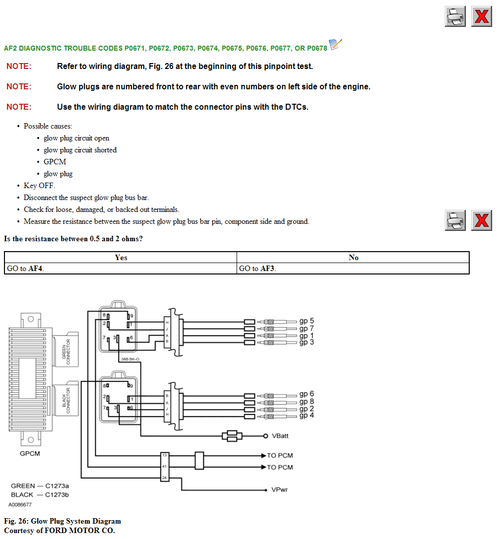 My Truck Has A Miss Under Normal Accleration It Acts Like 04 F350 Glow Plug Wiring Diagram Here Is The Tests Get Back To Me With Results And I Will Send You Next Test Need Depending On Have Included Dtc Sheet
