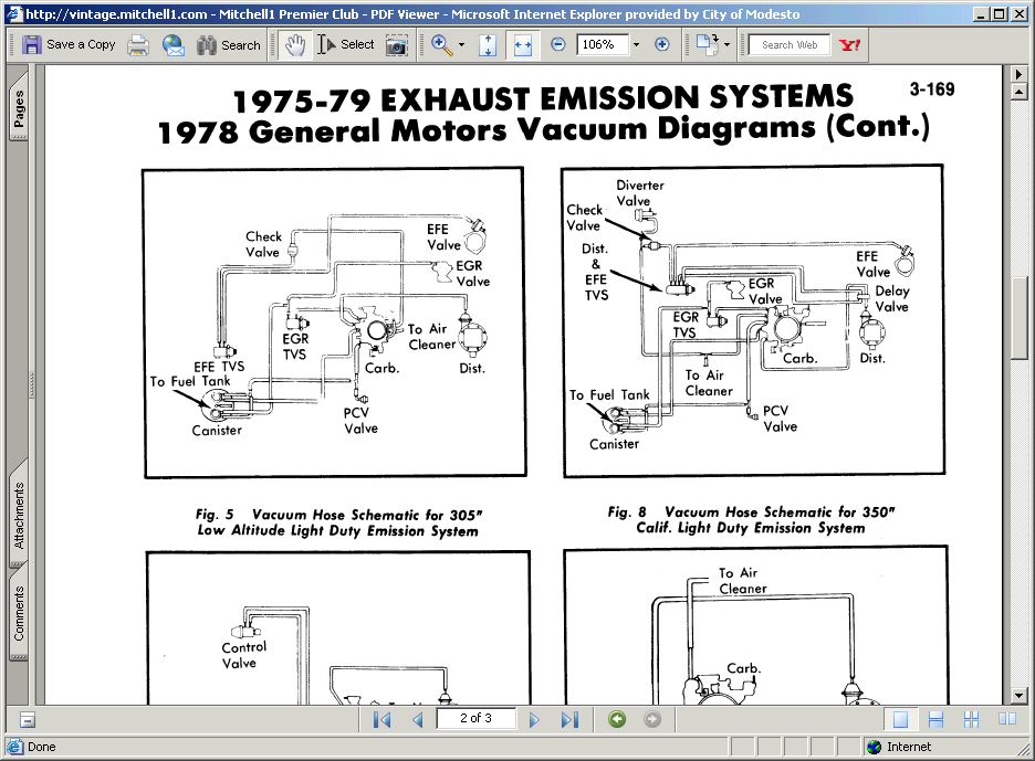 I Need A Vacuum Line Diagram For A  U0026 39 78 Chevy Truck W   High