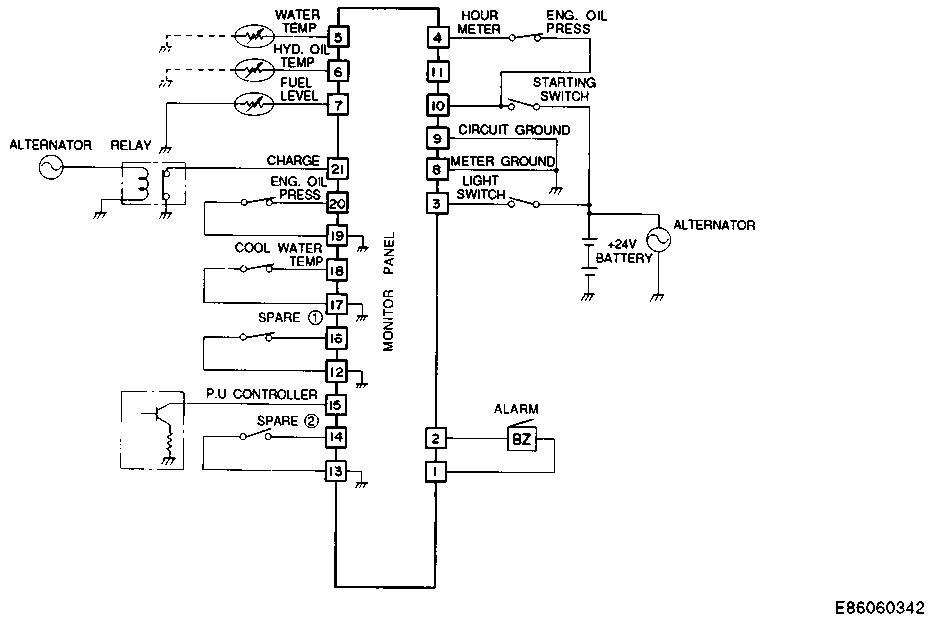 do you have an electrical diagram or schematic for a ms240lc 8Excavator Schematics #5