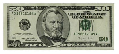 Image result for fifty dollar bill pictures