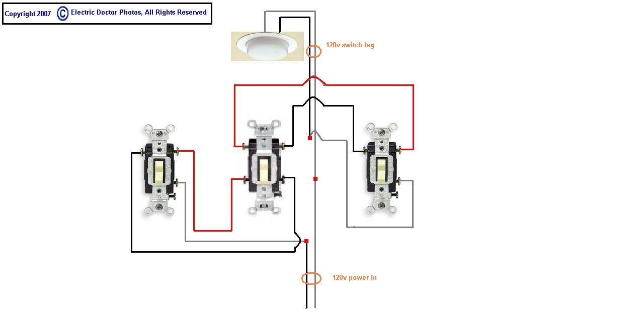 need diagram for 4 way switch with feed and switch leg in center box rh justanswer com