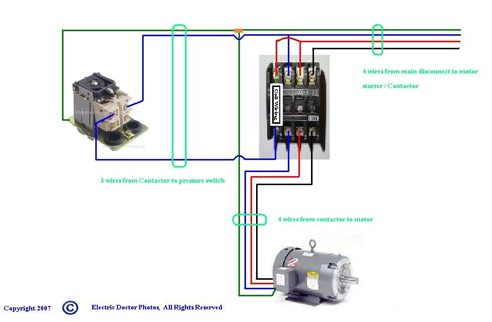 Show Wiring Schematic For Three Phase Air Compressor Justanswer