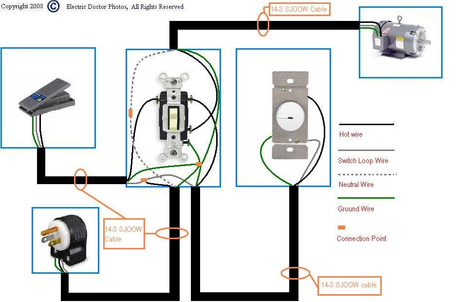 wiring diagram for sewing machine foot pedals