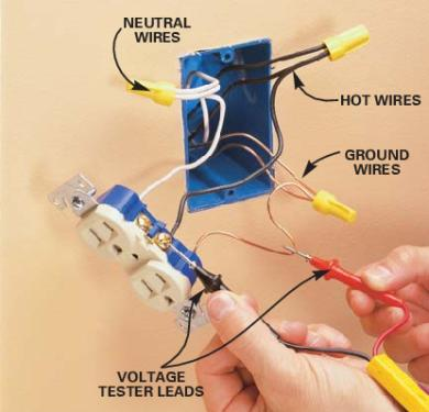 how to fix open neutral and open ground in an electrical outlet, House wiring