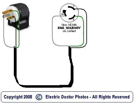 I want to make a pigtail  standard    125V    female    plug