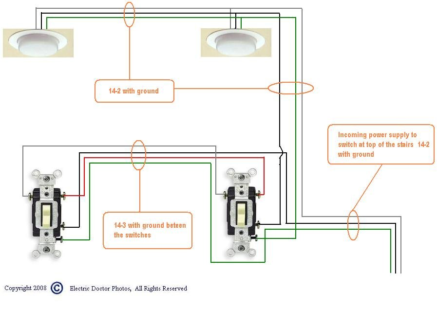 Wiring Diagram Switch Leg : How to wire a three way switches powered thru the second