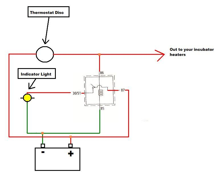 [DIAGRAM_5FD]  I am making a 12 volt incubator. The heater is made from resistance wire  (10W, 0.8 amps). A present disc thermostat is | Incubator Thermostat Wiring Diagram |  | JustAnswer