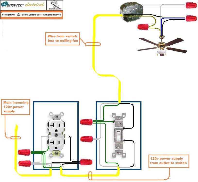 Ceiling Fan Light Switch Wiring Diagram