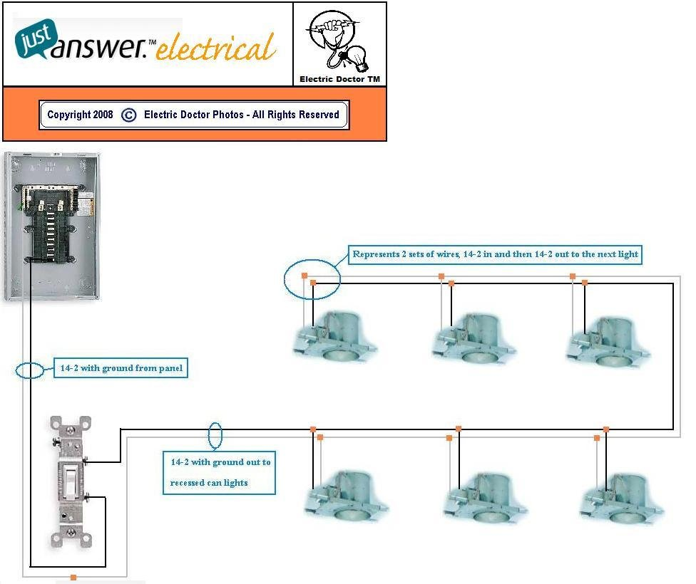 Wiring Pot Lights With 3 Way Switch Schematics Diagrams 4 To One Diagram Printable Light 1 Three Easy