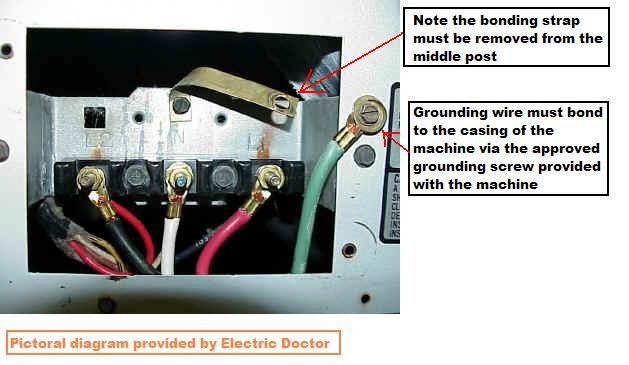 how do you change a 3 to 4 pronged plug on a kenmore 70 series 4 Prong Dryer Outlet Wiring Diagram 4 Prong Dryer Outlet Wiring Diagram #47 wiring diagram for 4 prong dryer outlet