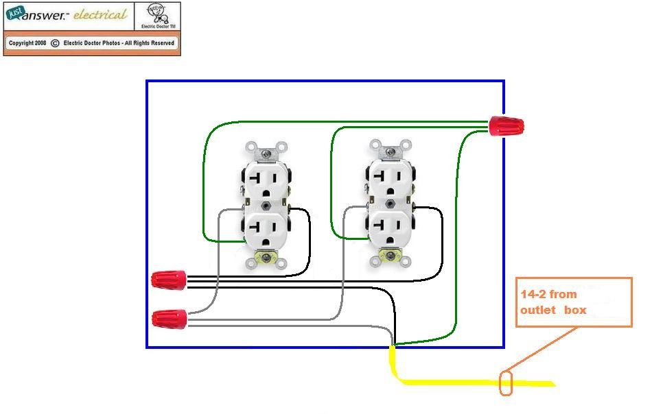 2009 06 07_215100_Customer_garage_wiring_2 i have a single, 125 volt 20 amp outlet wired in my garage why double outlet wiring diagram at creativeand.co