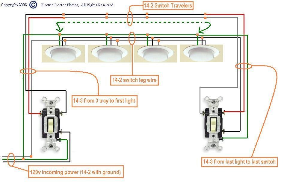 I Need A Wiring Diagram Showing How To Install A 3 Way Switch With The Power Source Starting At