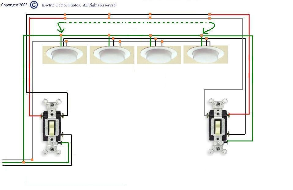 4 Lights 3 Switches Wiring - Schematic Diagrams