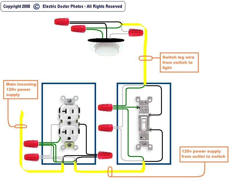 Wiring Diagram Light Switch Outlet Wiring A Light Switch And – Installing A Light Switch Wiring Diagram