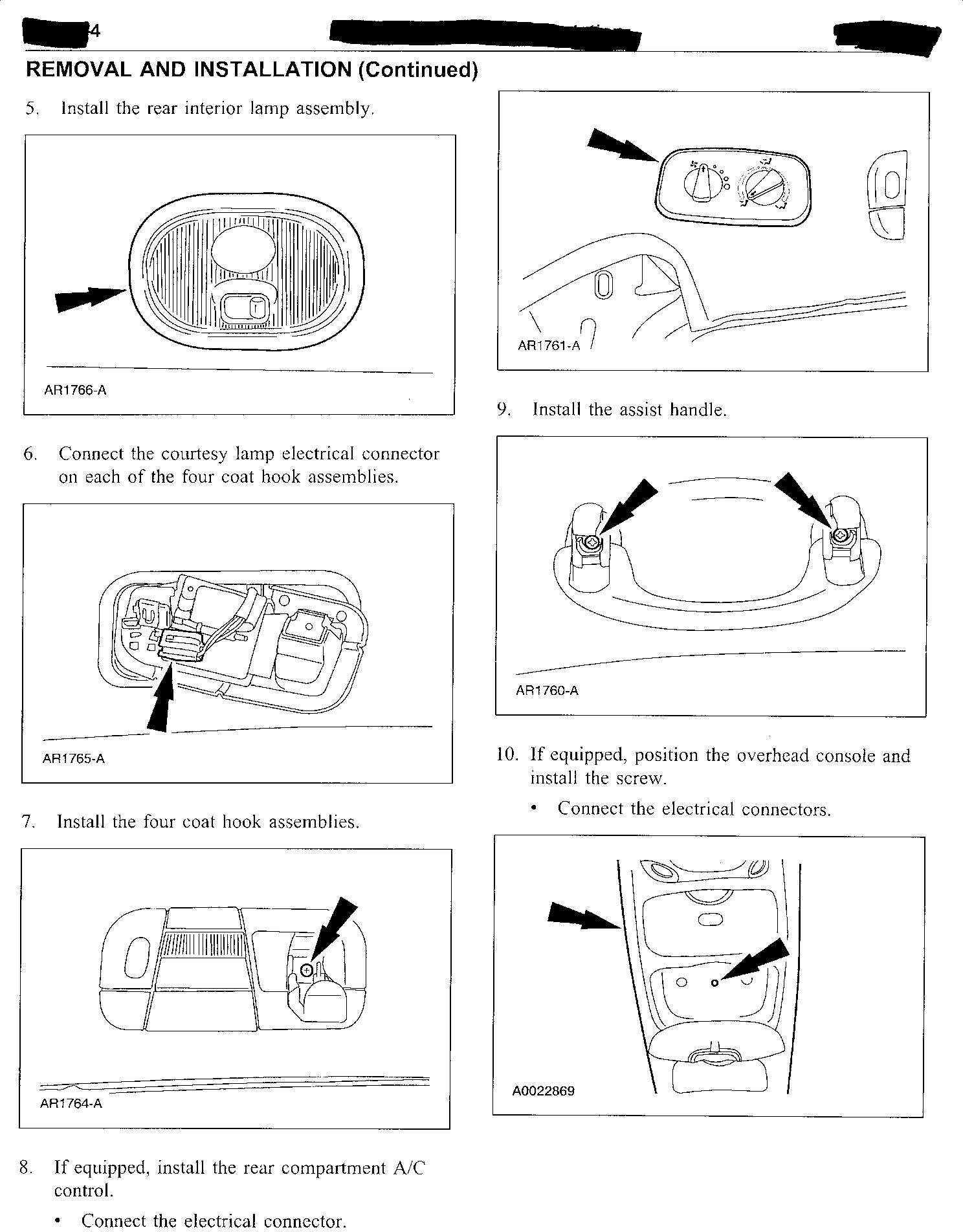 I Bought A Used 2003 Ford Windstar And Am Experiencing All Of The Electrical Problems Graphic